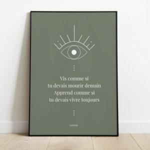 affiche symbole oeil citation