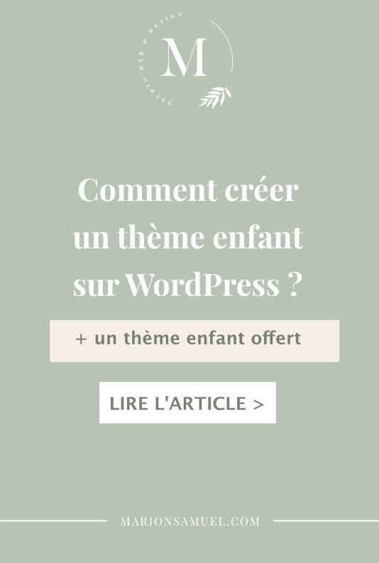 comment créer un thème enfant sur WordPress