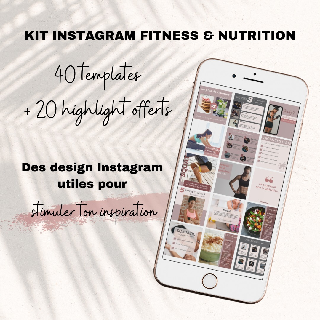 templates instagram coach sportif